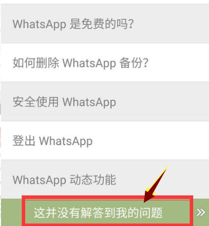 WhatsAPP手机号码被禁用的邮箱反馈界面