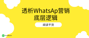WhatsApp营销的底层逻辑